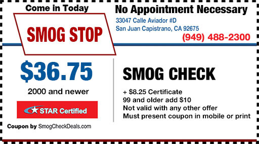 smog check coupon capistrano